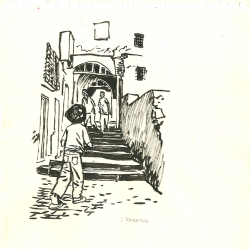 Ruelle en escaliers à la Casbah