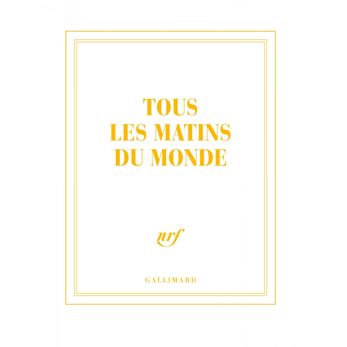 Tous Les Matins Du Monde Carnet Carré De Papeterie