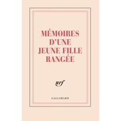 Grand carnet ligné couverture rigide «Mémoires d'une jeune fille rangée» (papeterie)