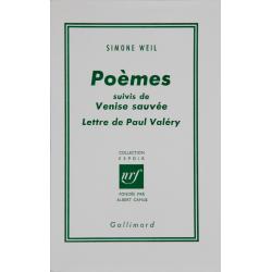 Poèmes suivis de Venise sauvée et Lettre de Paul Valéry