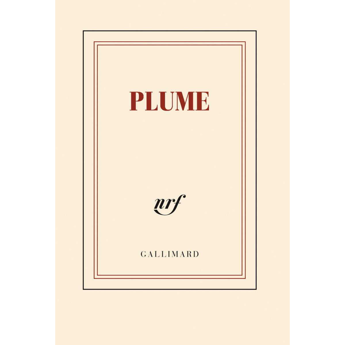 plume carnet poche de papeterie galerie gallimard. Black Bedroom Furniture Sets. Home Design Ideas