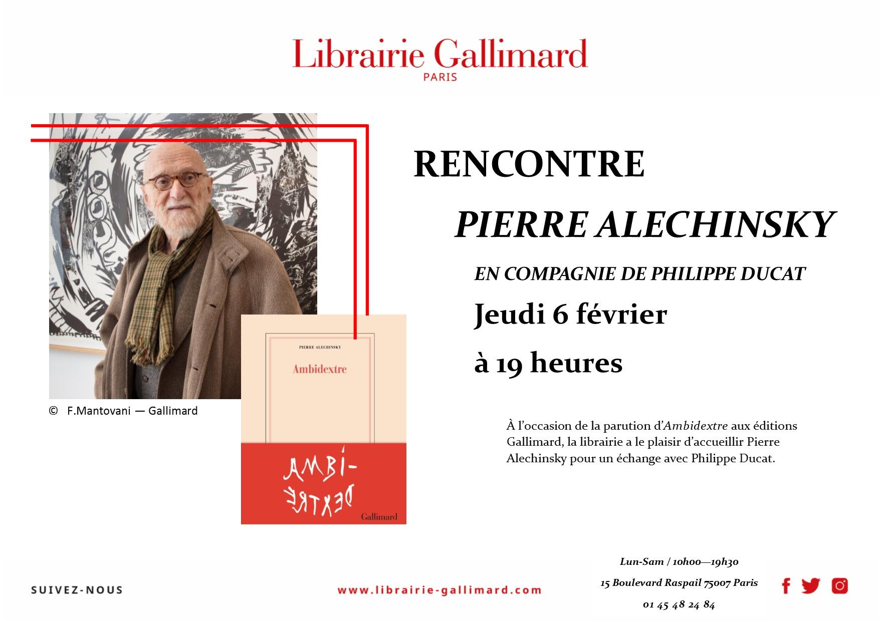 ALECHINSKY a la Librairie Gallimard 6220