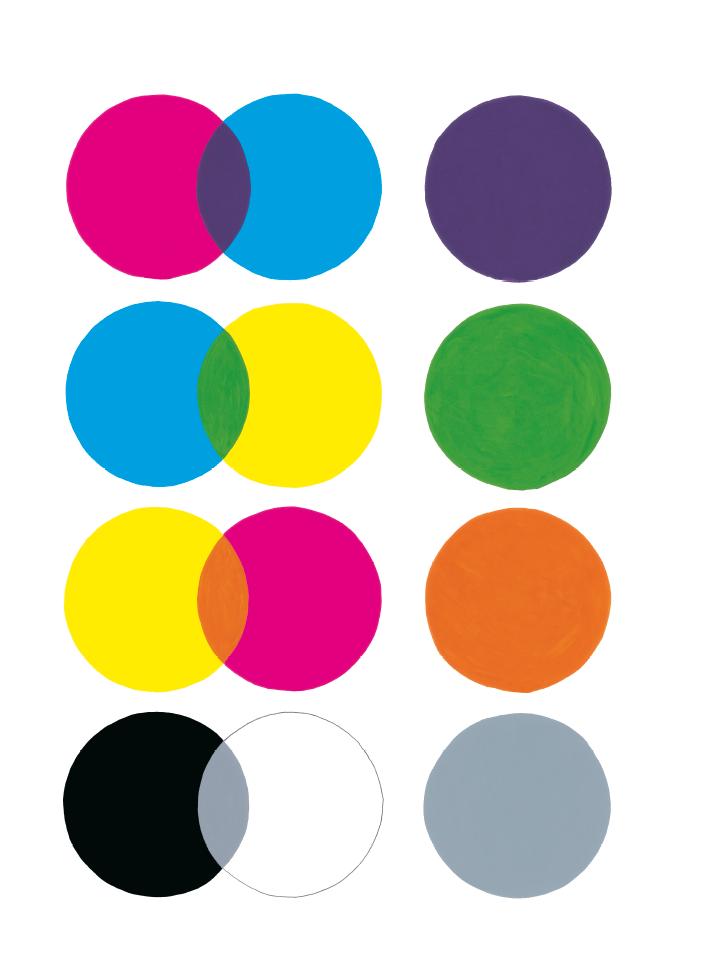 Gouache sur papier illustrant la couverture du Cahier de peinture pour apprendre les couleurs de Pascale Estellon, Éditions des Grandes Personnes, 2010.